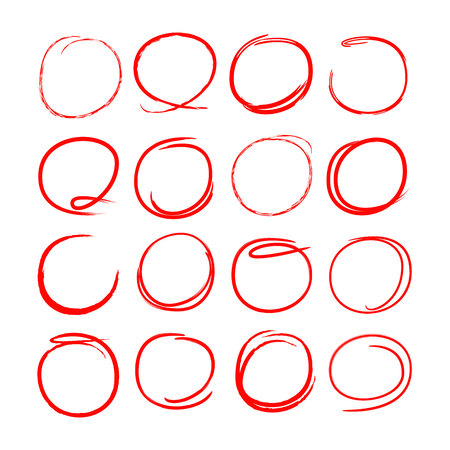 hand drawn circles for highlighting some text Stock Vector - 103989623