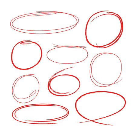 red hand drawn circles for highlighting some text