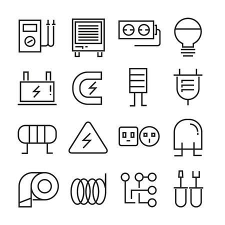 electricity icons Иллюстрация