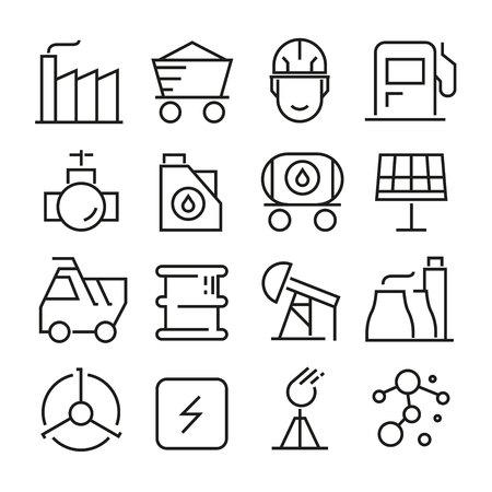 energy icons Standard-Bild - 104555037