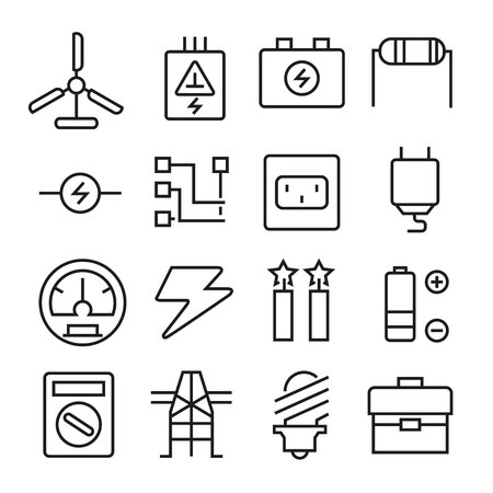 electricity icons Illustration