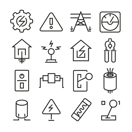 electricity icons Vettoriali