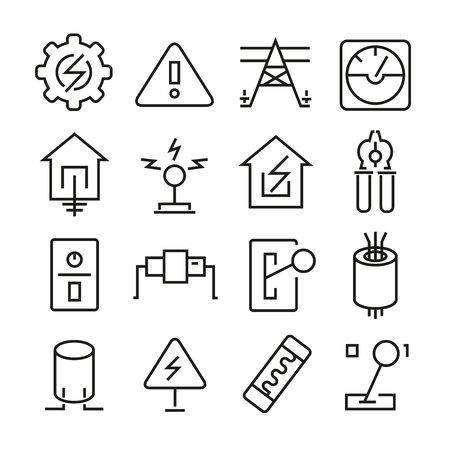 electricity icons Ilustração
