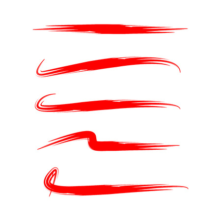 red brush lines Illusztráció