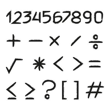 número y símbolo matemático