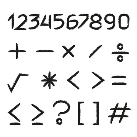 nummer en wiskundesymbool