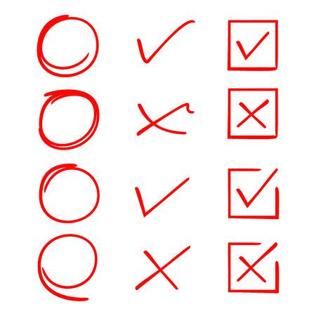 red check list 向量圖像