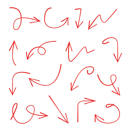 red doodle arrows