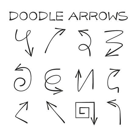 flechas de doodle