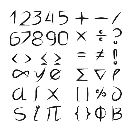 number and math symbols