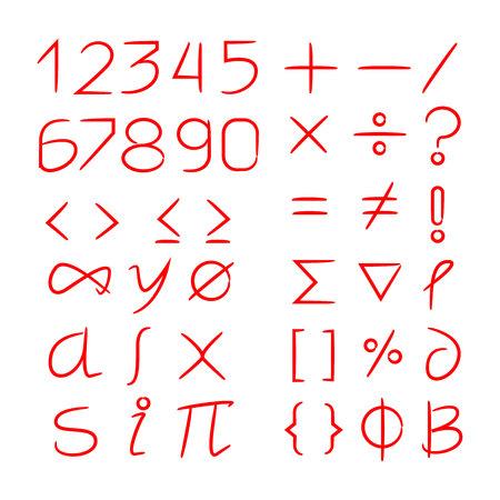 number and math symbols