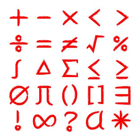 math icons set Illustration