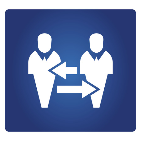 business people allocation icon in blue background 일러스트