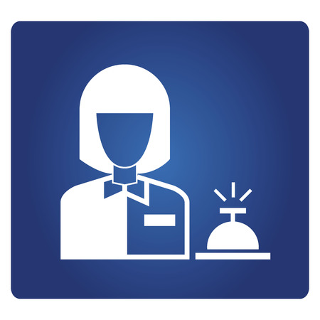 réceptionniste d'hôtel, bureau d'information Vecteurs
