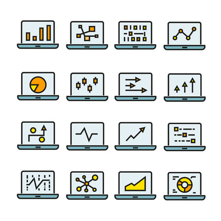 Graph and chart in computer icons
