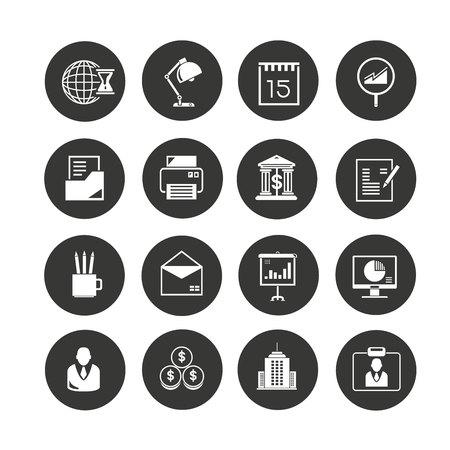 icône de bureau définie dans les boutons de cercle