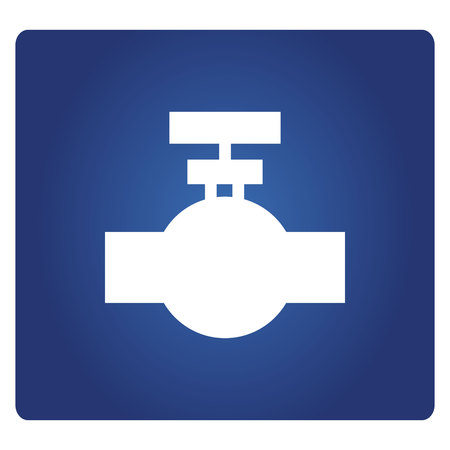 industrial valve icon in blue background Illustration