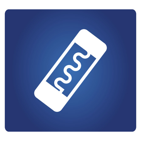fuse icon in blue background