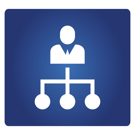 business people diagram, organization chart icon