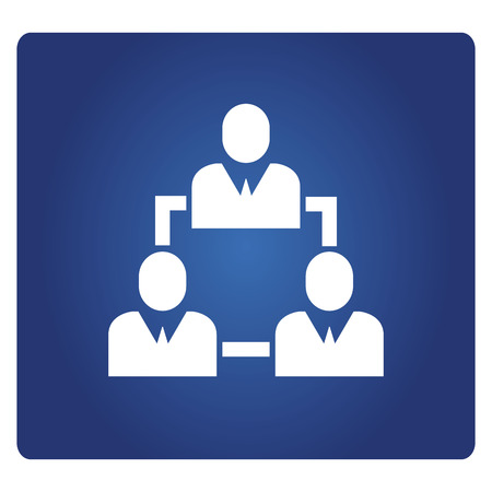 business people diagram icon
