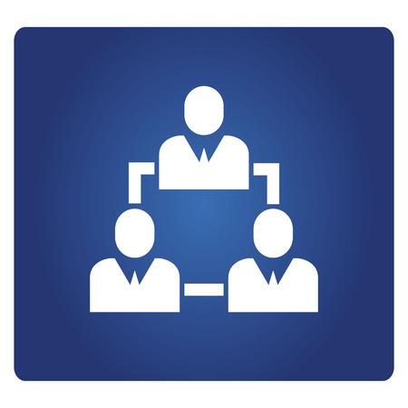 business people diagram icon 일러스트