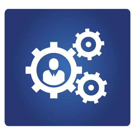 business people and gears icon