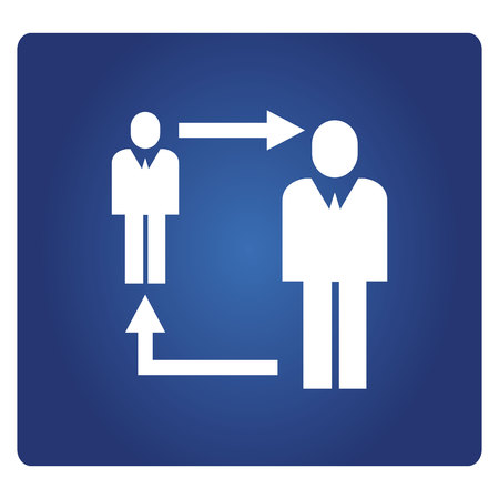 business people allocation icon