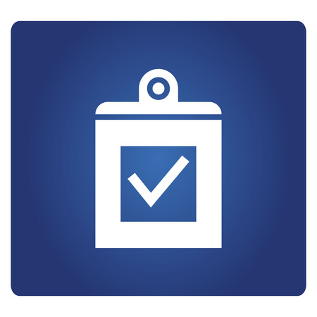 check mark in clipboard icon Иллюстрация