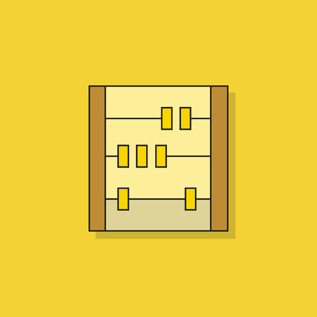 abacus icon on yellow background