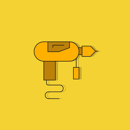 driller icon on yellow background