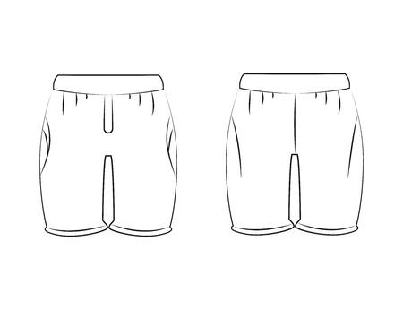 hand drawn short pants