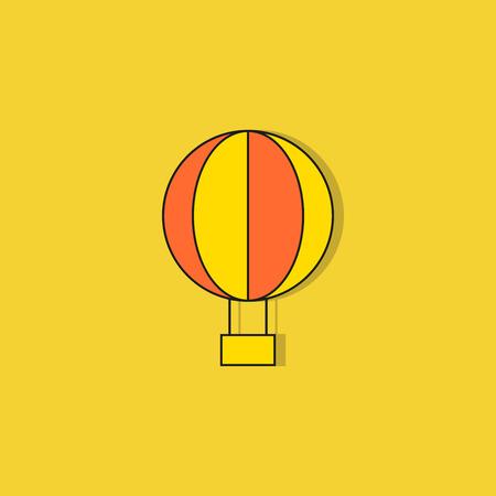Ballonsymbol auf gelbem Hintergrund