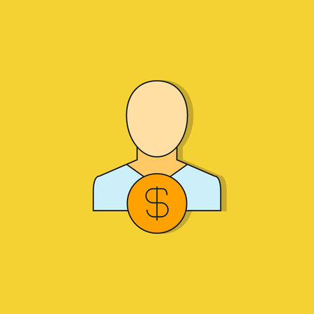 investor icon on yellow background