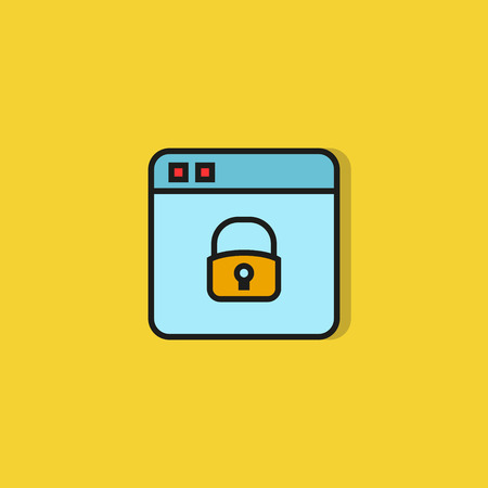 web security icon on yellow background