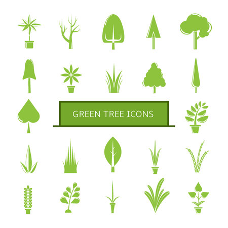 green tree icons Stockfoto - 113145003