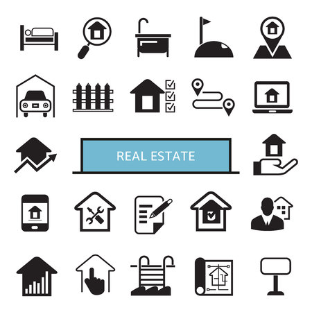 Immobilienikonen Vektorgrafik