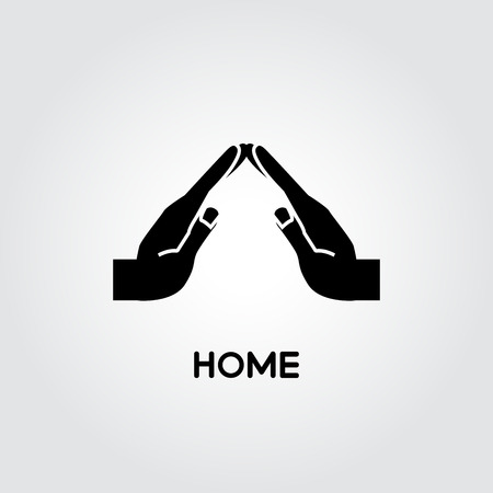 hands shape for home concept