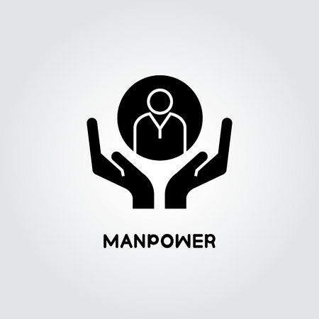 hands holding people for manpower concept 일러스트
