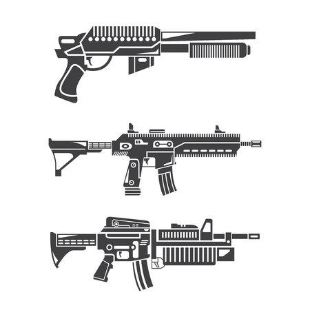 ensemble de mitrailleuses