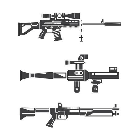 machine gun set