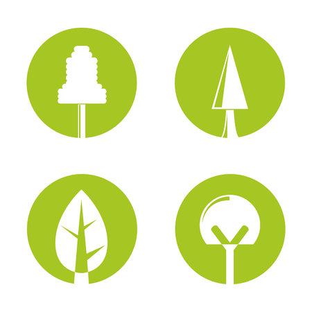 bonsai tree icons Stockfoto - 113145381