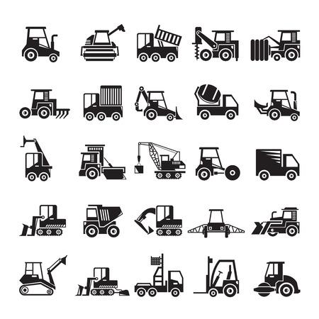 icone di attrezzature per l'edilizia e l'estrazione mineraria