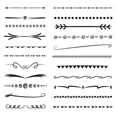 hand drawn divider line set