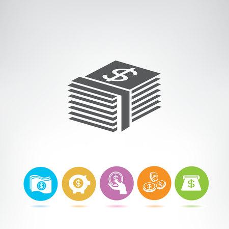 dollar currency icons Foto de archivo - 116838665