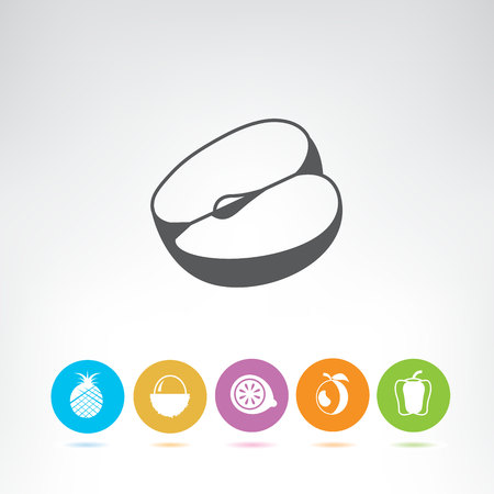fruit icons set Stock Vector - 116838796
