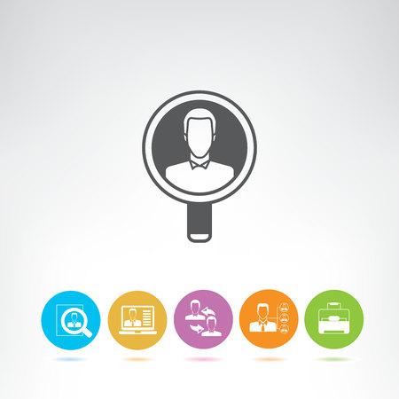 human resource concept icons 일러스트