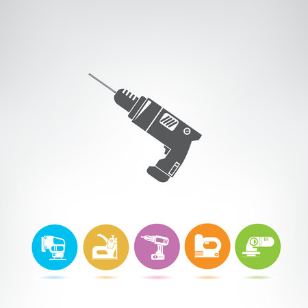 hand tool and equipment icons set