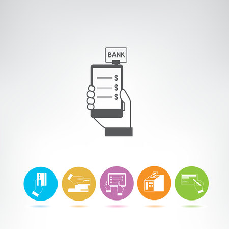 internet banking and payment icons