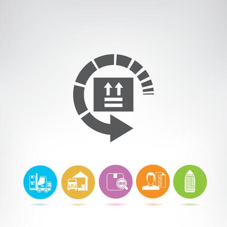 shipping and logistics icons Illustration