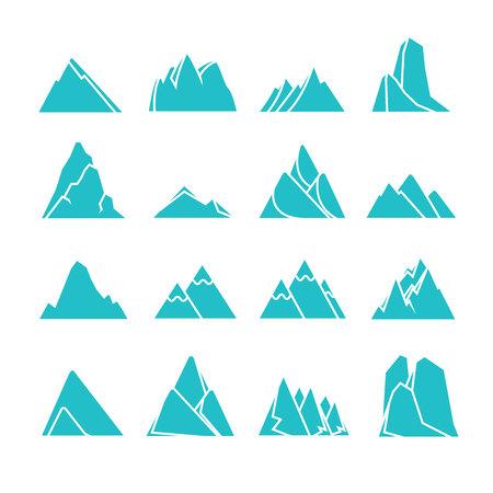 blue mountain icons Vektorové ilustrace